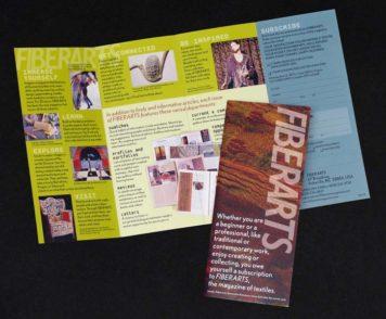 Fiberarts magazine brochure design