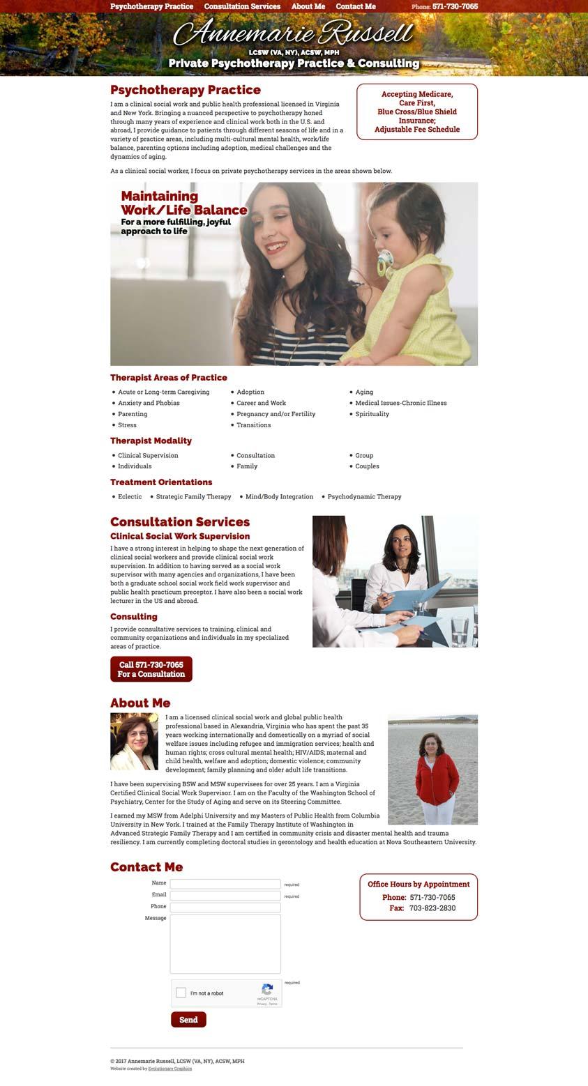 Amrus Website Design Desktop