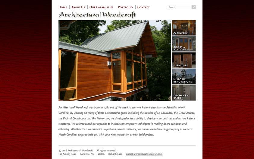 Archwood Website Design Desktop
