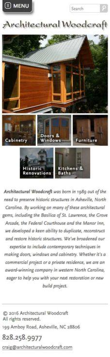 Archwood Website Design Mobile