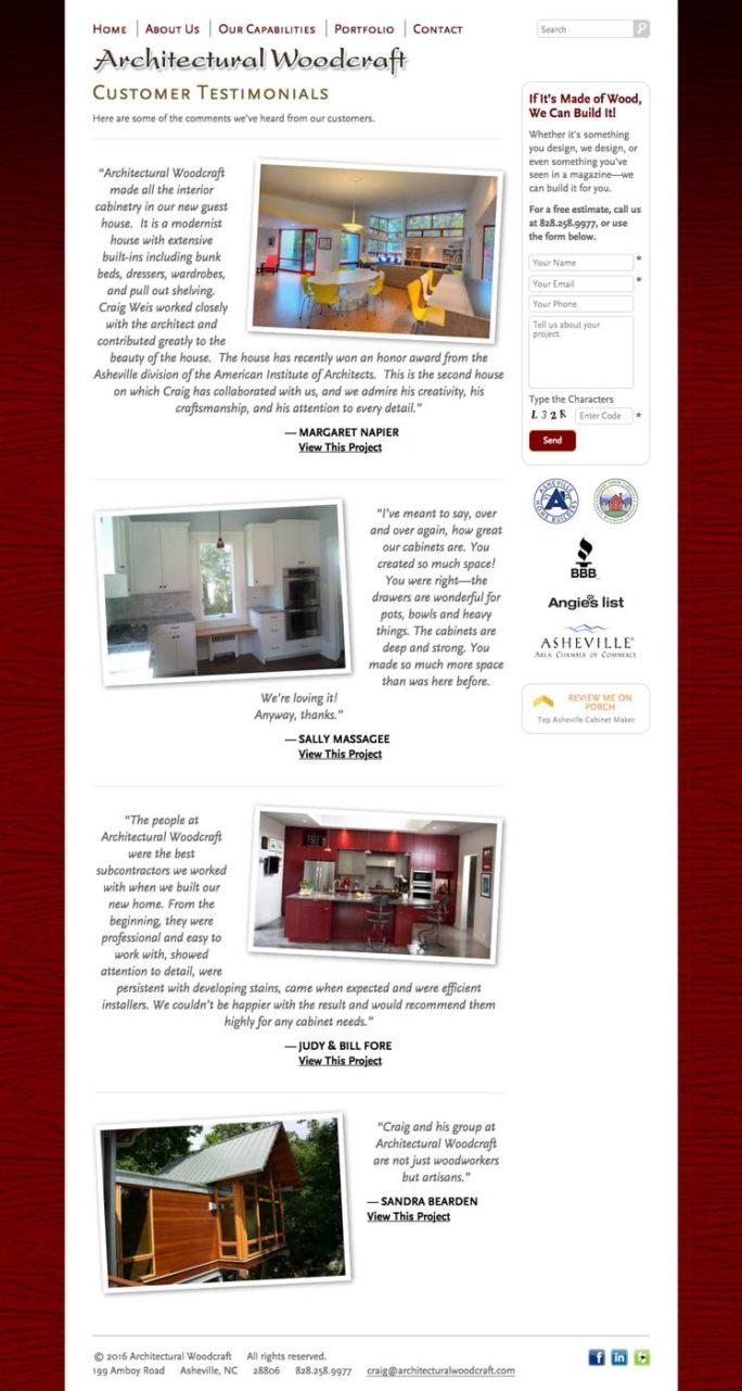 Archwood Website Design Notebook 01
