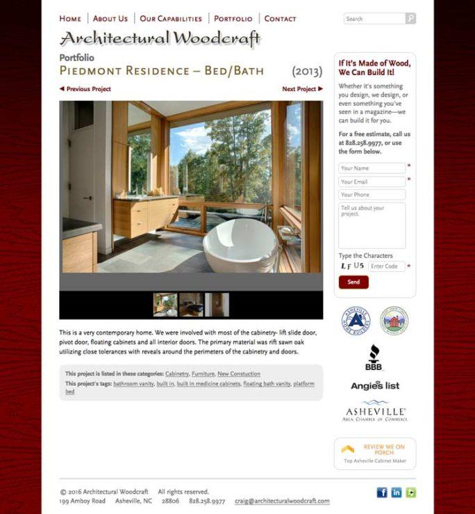Archwood Website Design Notebook 02