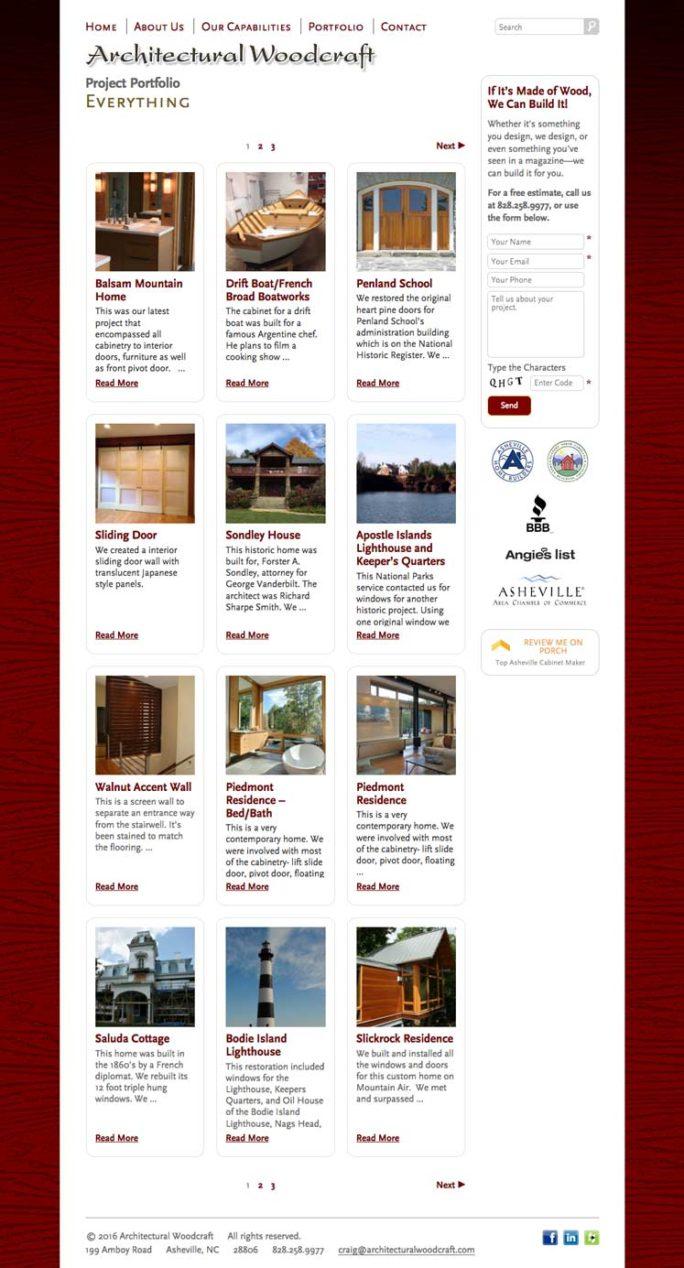 Archwood Website Design Notebook 03