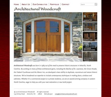 Archwood Website Design Notebook