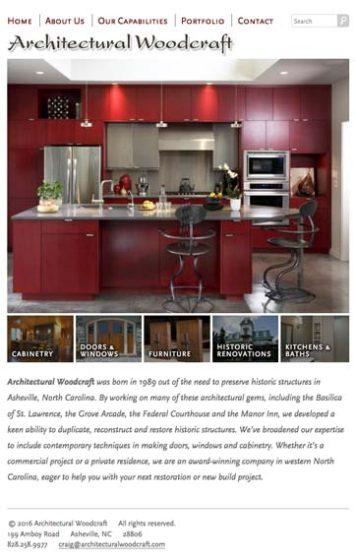 Archwood Website Design Tablet
