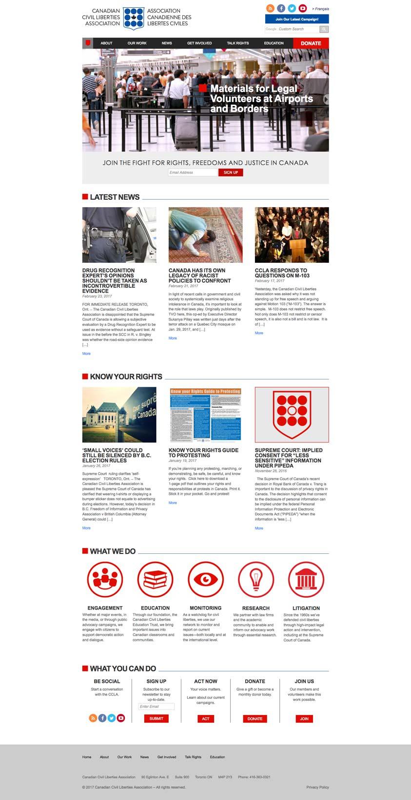 Ccla Website Design Desktop