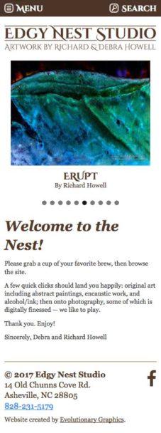 Edgynest Website Design Mobile