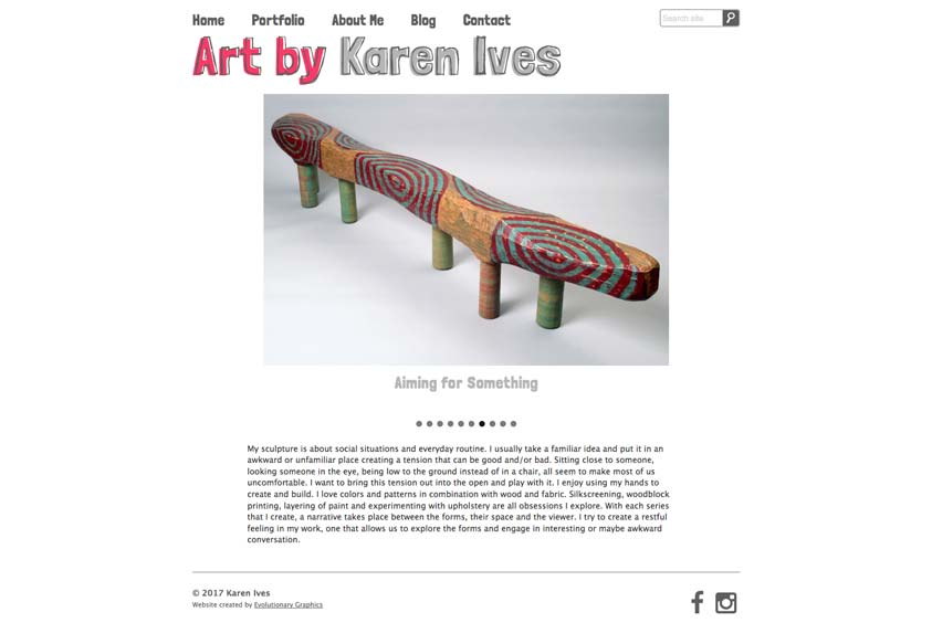 Karen Website Design Desktop
