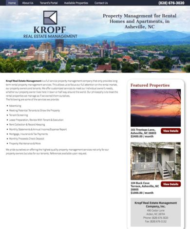 Kropf Website Design Notebook