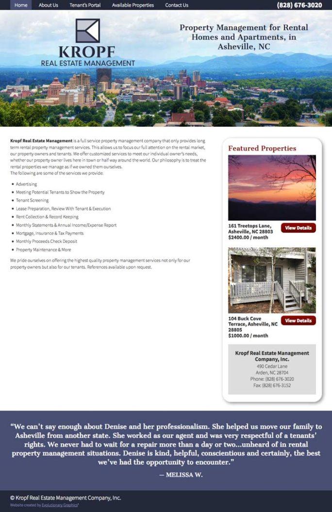 Kropf Website Design Notebook