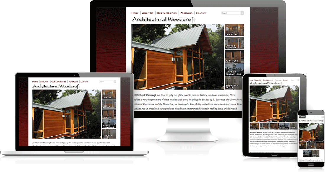 websites that work on all devices Asheville web designer