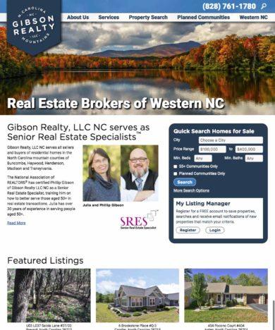 real estate website designer