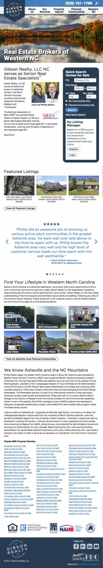 Asheville wordpress real estate website developer