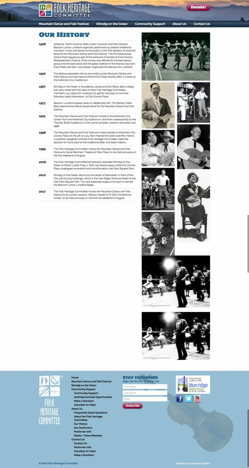 Asheville nonprofit websites